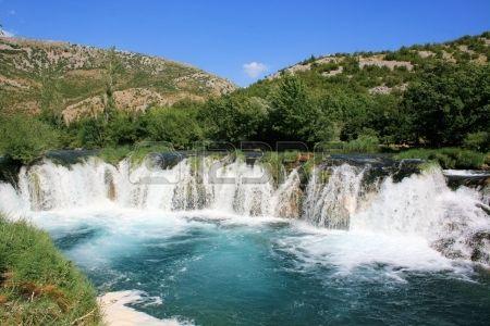 waterfall on Zrmanja river near Muskovici, Croatia