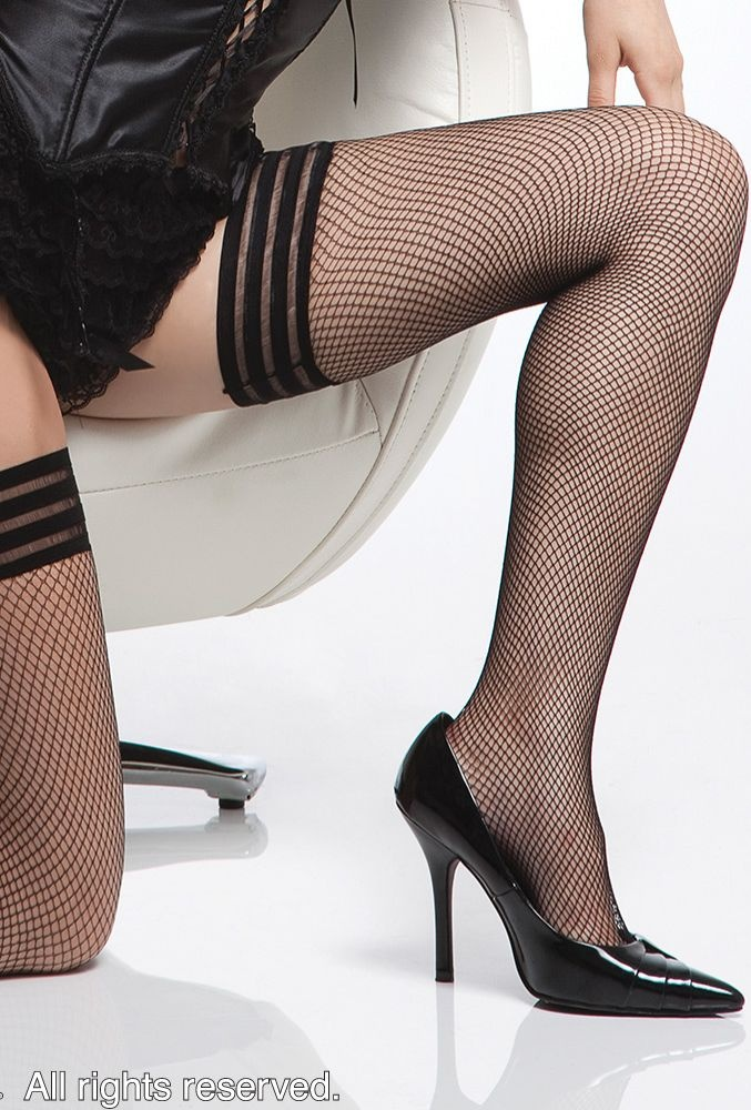 Coquette : Coquette Fishnet Thigh High Stockings with Triple Elastic Top | Miss Elegance | Lingerie, Sexy Lingerie, Lingerie Australia, Sexy Underwear, Babydolls, Chemise, Teddies
