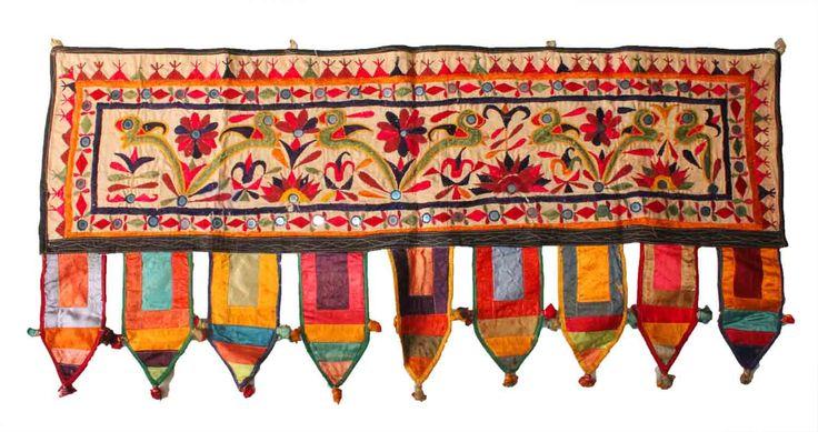 Handmade India Kutch Toran Valance Banjara Wall Hanging Tapestry yoga Decor by Vintageethnicindian on Etsy