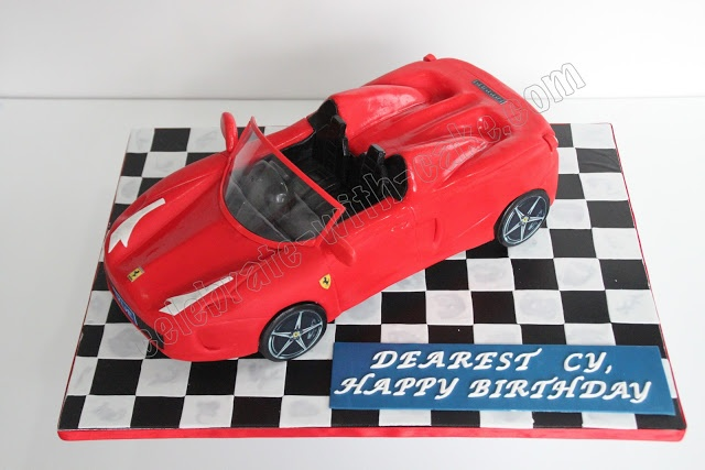 Celebrate with Cake!: Sculpted Ferrari Cake