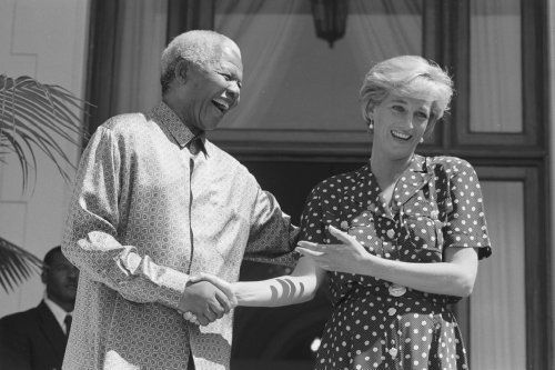 Nelson Mandela Meets Princess Diana in March 1997, in Cape Town. A joyful moment. Both gone now. May you both rest in peace.