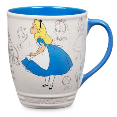 Mugg med Alice i Underlandet för tepauser eller excentriska tepartyn. Muggen ingår i Animation Collection och är dekorerad med skisser av Alice.