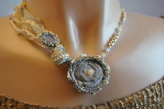 Natural Stone Necklace: Chalcedony Rose by YesterdayGetsBetter