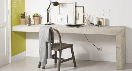 Steigerhout, Zelf een stoer bureau maken van steigerhout? Indien u onderstaand stappenplan volgt hebt u zo een mooi bureau