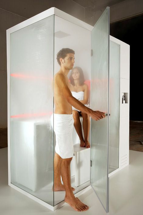 The Revolution shower cubicle by Carmenta incorporates a dry sauna, steam bath and shower, all in one. Ideal for small city homes where space is at a premium, or for any space where luxury won't be taken lightly.