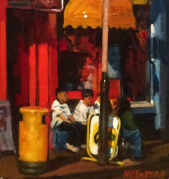 Joe McIntyre_Study for Summer in the City, Dundee_Oils_8x7.5 l Scottish Contemporary Art
