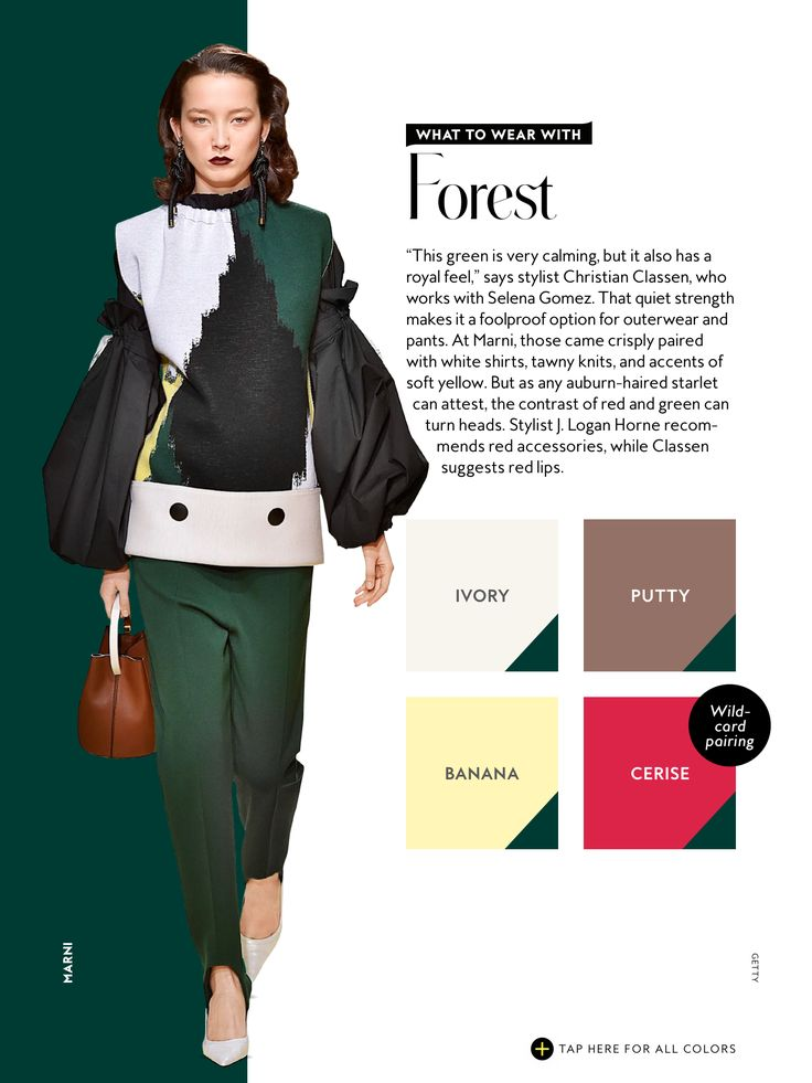 what to wear with InStyle Fall 2016 Forest