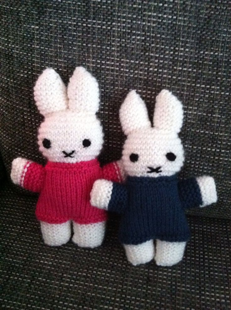 Nijntjes! #diy #knitting #breien | Brei ideetjes ...