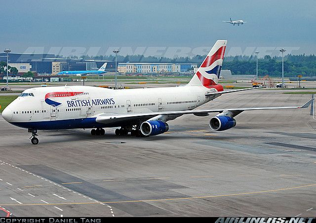 British Airways 747 Singapore