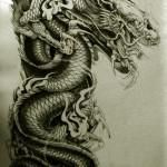 Oriental Dragon Tattoo Style (5)
