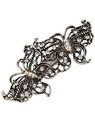 Vintage Silber Schmetterlinge mit mit Haarspange #Beauty #Haarpflege-Styling #Ha…
