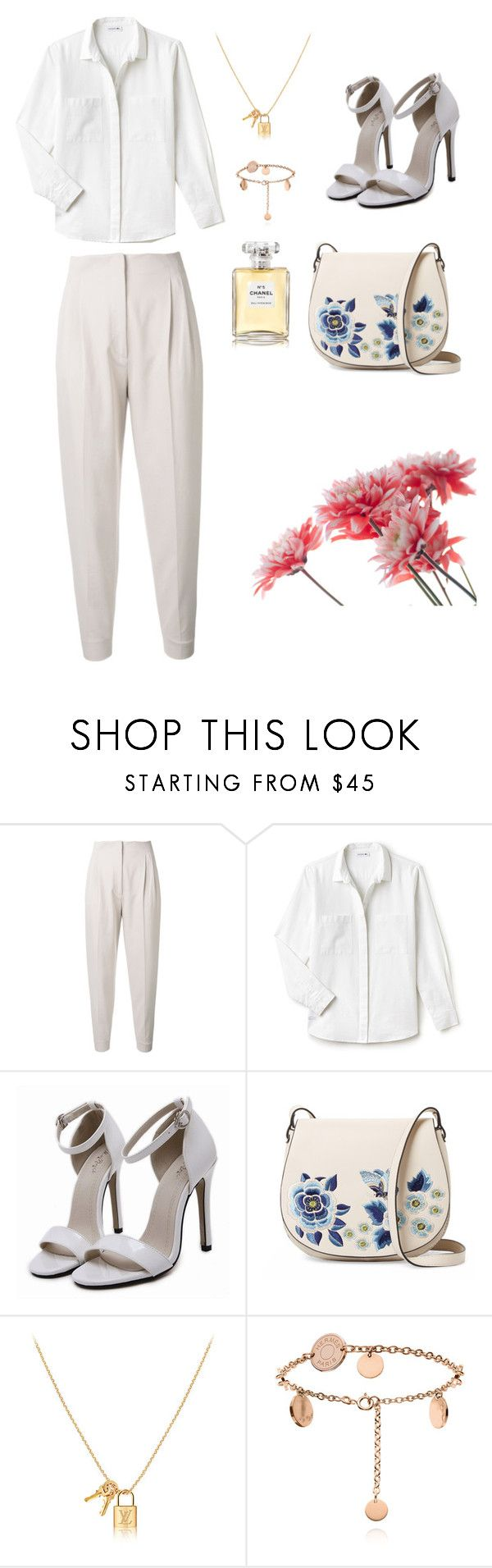 """#Allwhite!"" by joe-khulan on Polyvore featuring MaxMara, Lacoste, French Connection and Chanel"