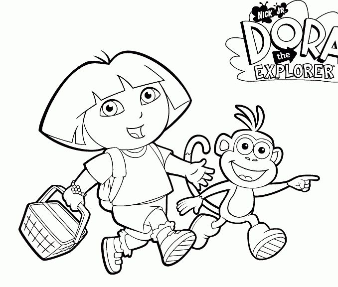 70 New Gallery Of Dora The Explorer Coloring Book Dora Coloring Coloring Pages Coloring Books