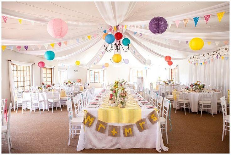 Wonderfully colourful South African wedding reception! Jules & Brad, Providence Photographer: Vanilla Photographer