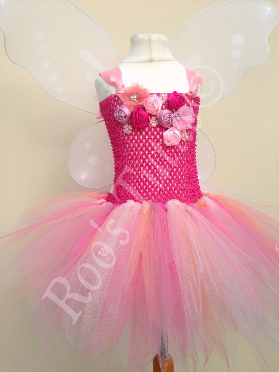 Rosetta Fairy Tinkerbell inspired tutu dress by ItsRoosTutus
