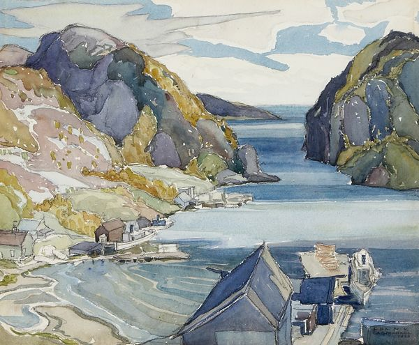 """""""Coldwell, Lake Superior,"""" Franklin Carmichael, 1926, watercolor on paper, 11 x 13 1/4"""",  Art Gallery of Hamilton."""