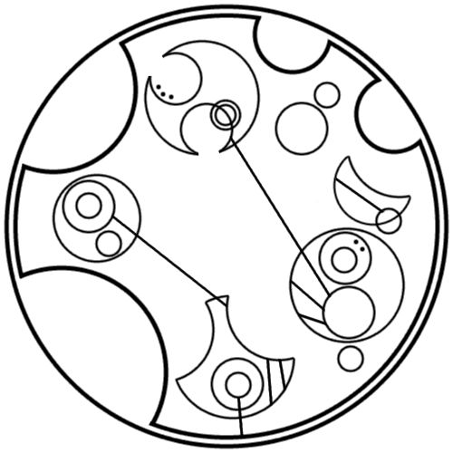 """Just make it a good one"" written in circular Gallifreyan requested by zekecrowstiel"