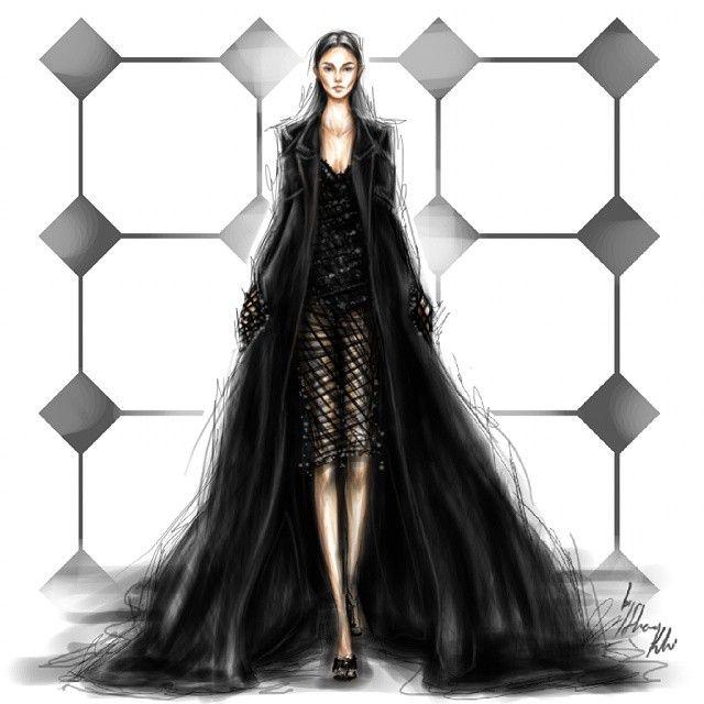« @balenciaga Motifs ♥ »   Fashion sketches, croquis ...