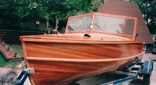 Custom made Giesler cedar-strip boat for sale 18 Ft   powerboats, motorboats   Peterborough   Kijiji