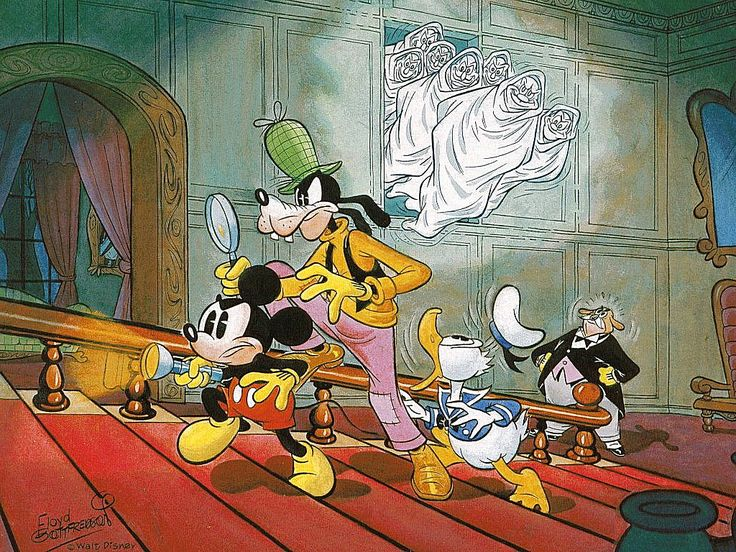 Painting by Floyd Gottfredson (June 1980)