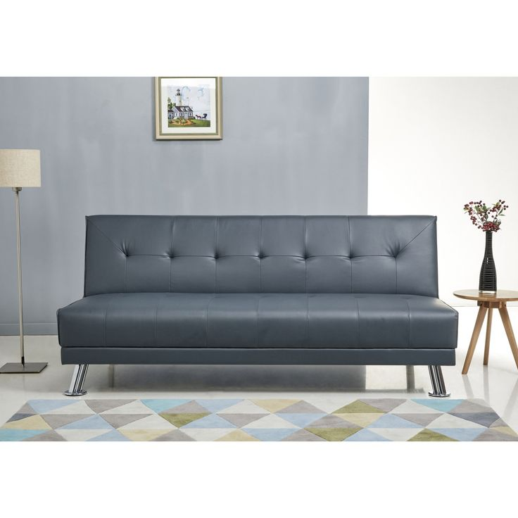 Abbyson Lexi Steel Leather Sofa Bed