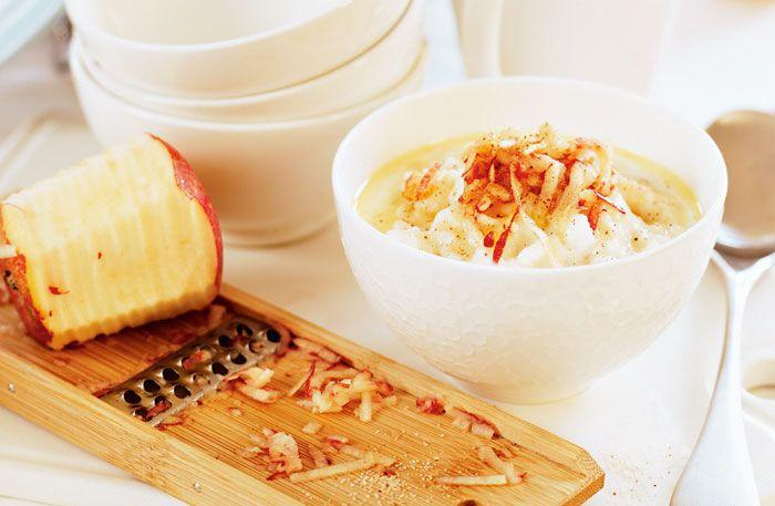 Tomtegröt m. äpple och kanel. Recept: http://alltommat.se/recept/tomtegrot/