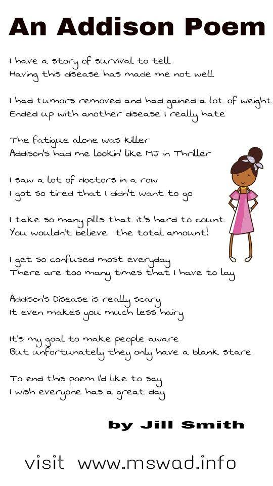 An Addisons Disease Poem