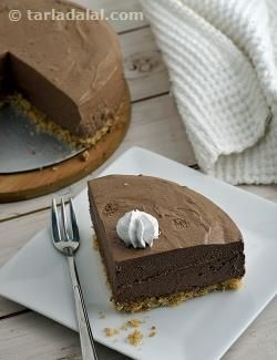 the crust is made of coconut. In the chocolate chiffon pie, chocolate ...