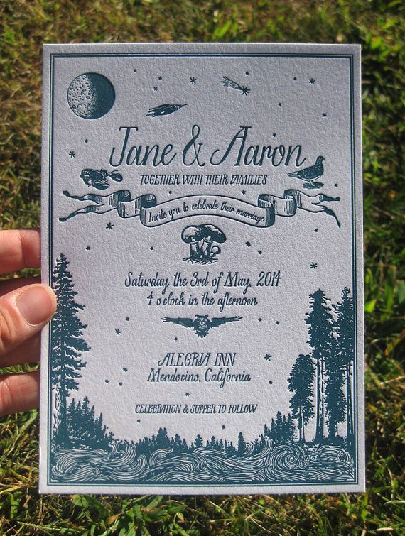 custom design letterpress wedding invitations