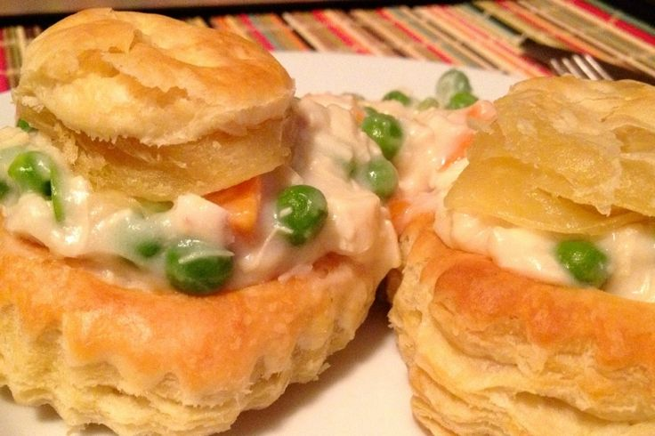 L'authentique...Le vol-au-vent et sa traditionnelle sauce Béchamel