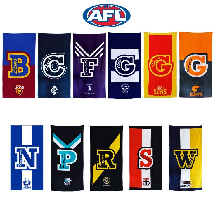 AFL Team Official Licensed Cotton Beach Towel by AFL