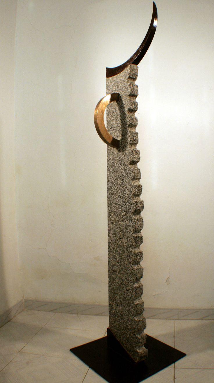 minotauro minotaur tcnica mixta acero corten latn y granito medidas x