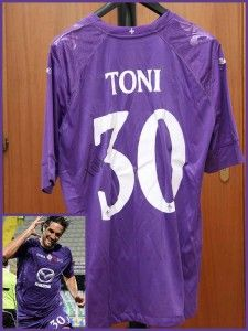 Ebay charity auction A.C.F. Fiorentina 2012-13 original Luca Toni jersey with own signed autograph