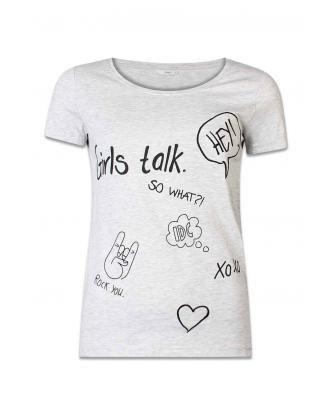 ZEB e-shop Grijze t-shirt ONLCOTTON SS RELAX P