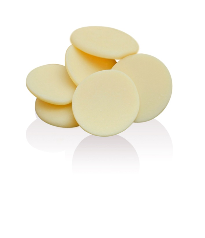 White Chocolate Buttons: Creamy, lusciously smooth and delicate.