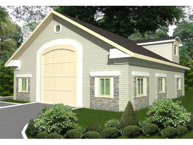 Front View But With 2 Garage Doors Garage Plans