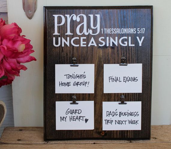Prayer Display Board by SimpleFaithShop on Etsy, $16.99