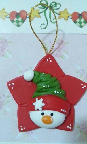 adornos para el arbolito de navidad en porcelana fria