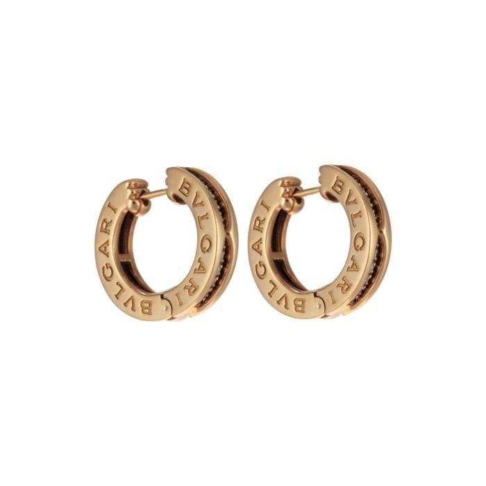 Bulgari Yellow Gold & Diamond Bzero1 Earrings featured in vente-privee.com