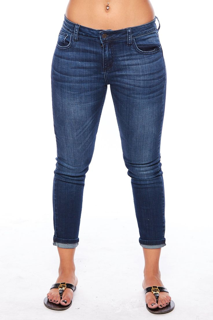 CELLO JEANS WASHED ROLLED UP CAPRI JEANS #caprijeans #rolledupjeans