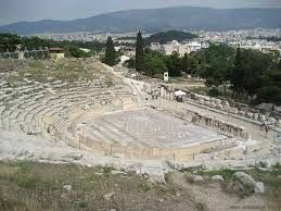 Teatro di Dioniso; VI-V secolo a.C.; la struttura in legno venne sostituita da una in pietra; Acropoli.