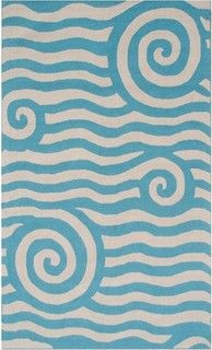 Yala Blue Outdoor Rug - contemporary - outdoor rugs - by Home Infatuation