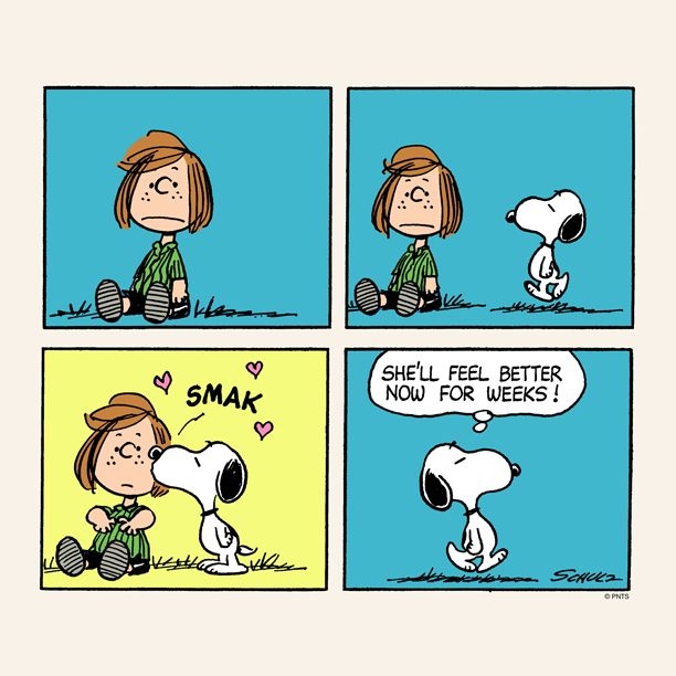 Snoopy makes you feel better