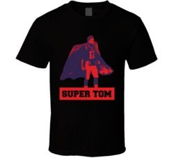 Tom Brady Super Tom In A Cape New England Football T Shirt