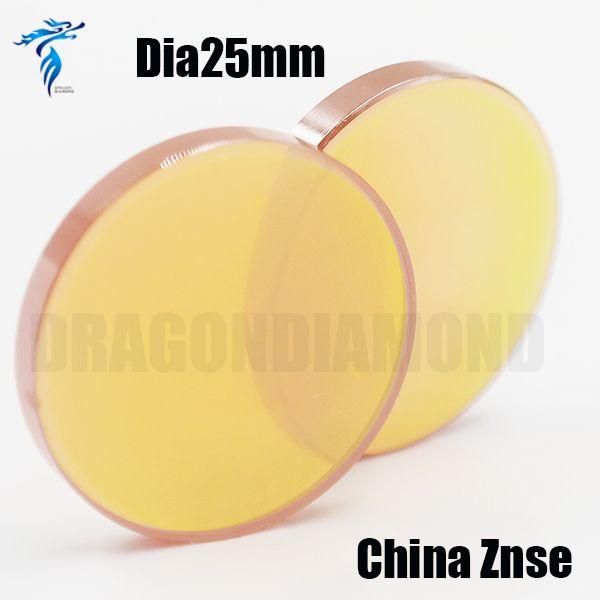 Бесплатная Доставка Китай Znse лазера СО2 объектив и лазерные зеркала для лазерной гравировки резак Диаметром 25 мм ЭТ 127 мм с высоким точность