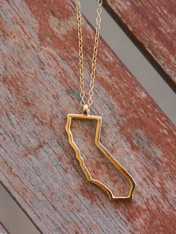 California Outline Necklace
