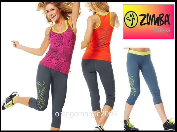 ZUMBA FITNESS 2 PIECE SET! Capri Leggings Pants & Racerback Top Tank Dance! RARE #Zumba #PantsTightsLeggingsCaprisRacerbackTopShirt