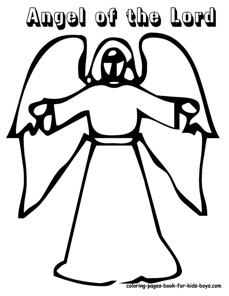 A For Angel Coloring Pages