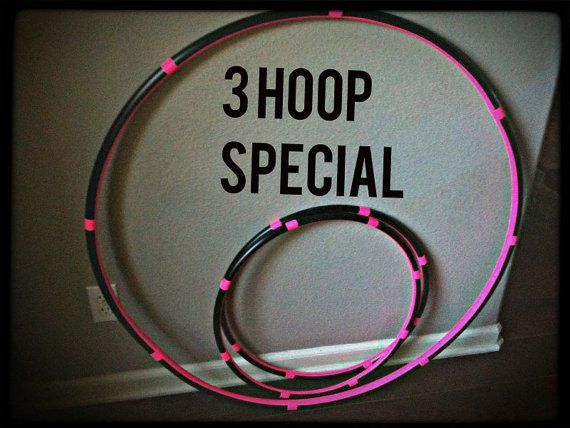 Lot Of 3 Hula HOOPS - 1 Collapsible Adult Hoop & 2 Mini Arm Hoops - SALE 10 percent off best seller