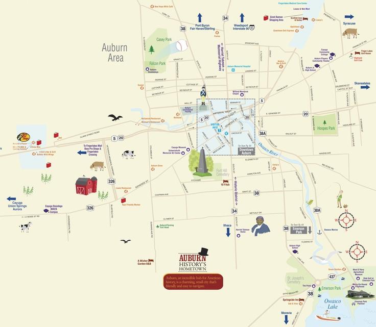 City of Auburn - Cayuga County - Finger Lakes   Maps of NY ...